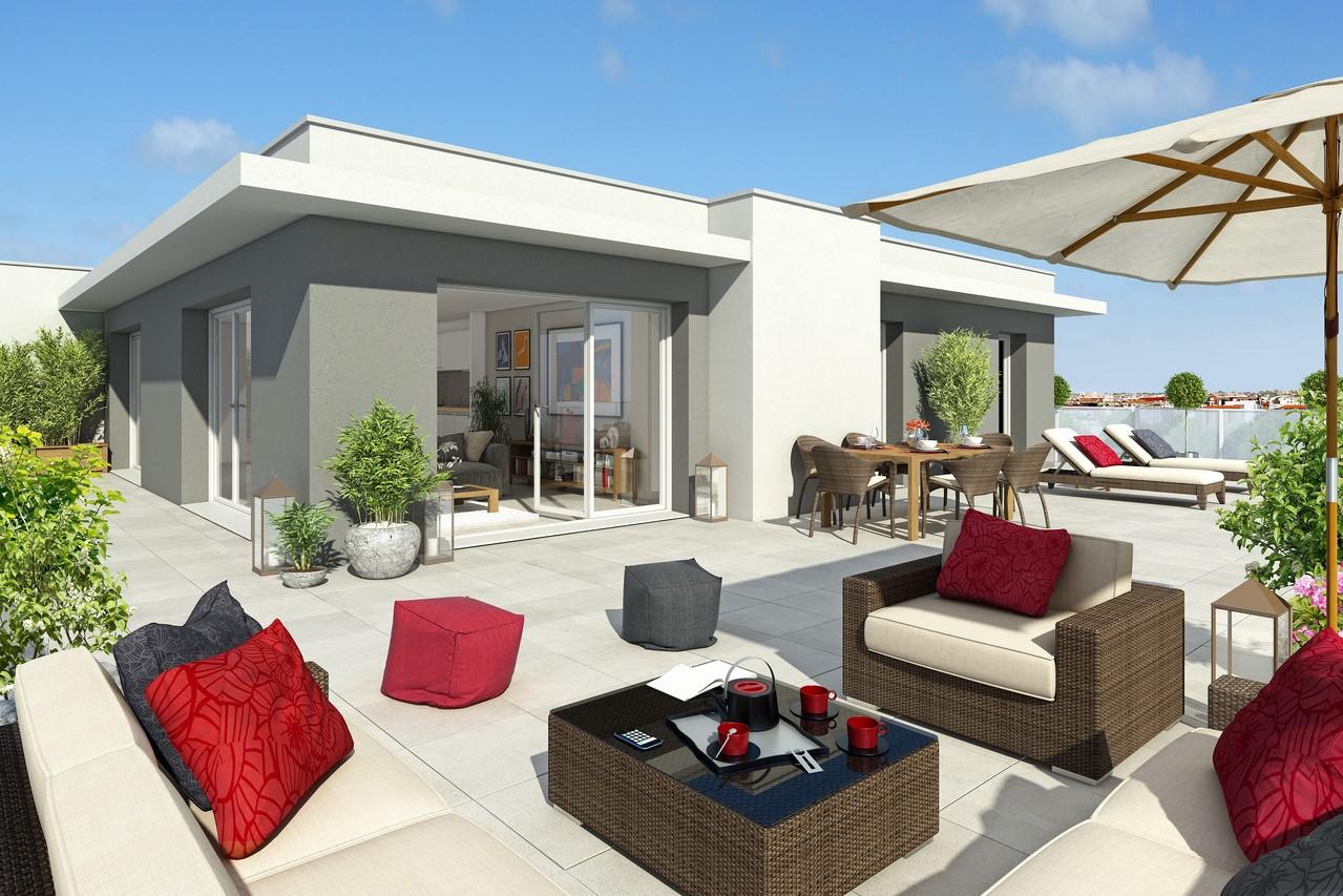location appartement dernier etage nice. Black Bedroom Furniture Sets. Home Design Ideas