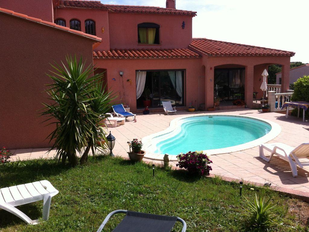 location maison 8 personnes avec piscine a collioure